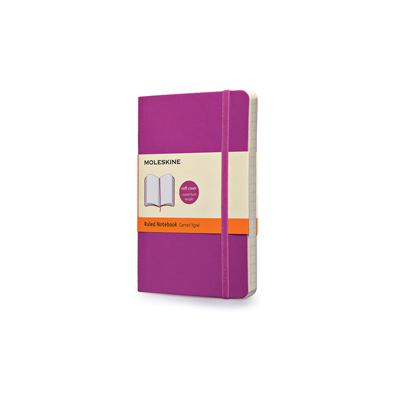 MOLESKINE NOTEBOOK VIOLA ORCHIDEA POCKET SOFT COVER RIG.RIGHE