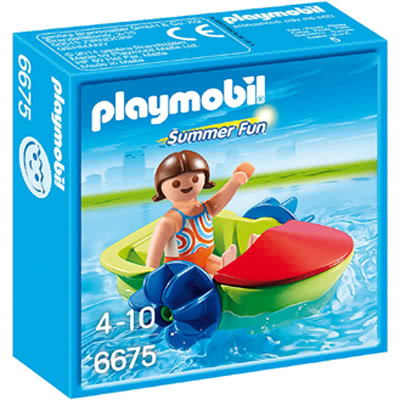 PLAYMOBIL RAGAZZA CON FUN BOAT 6675